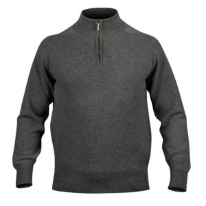 Mens Zip Neck Jumper – Dark Green