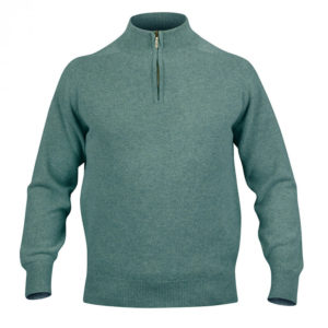 Mens Zip Neck Jumper – Lovat