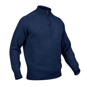 Mens zip neck jumper – Astra Navy