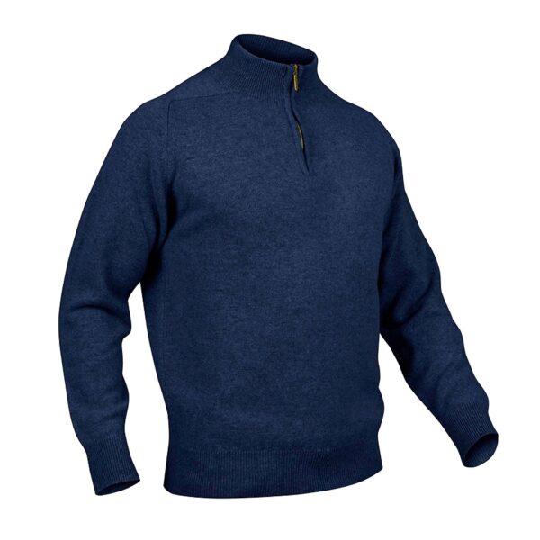 Mens zip neck jumper – Astra Navy