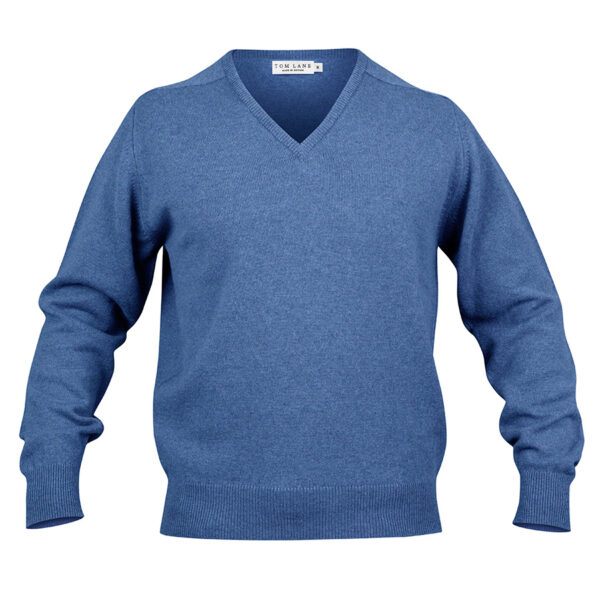 Zennor Vee neck – Blue