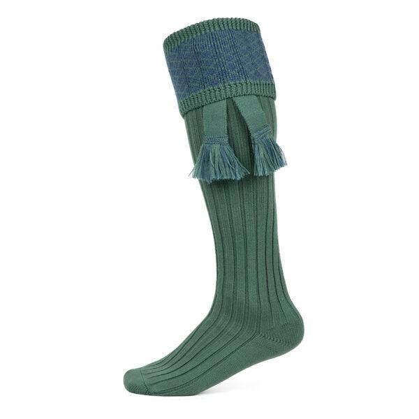 Oakham Shooting socks – Green & Blue