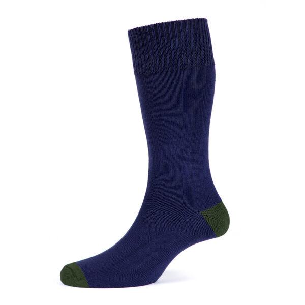 Cotton socks – Heal & Toe contrast