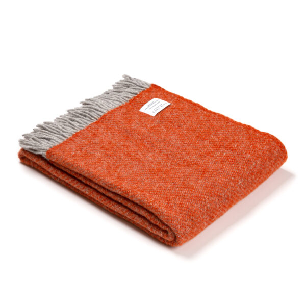 Burnt Orange Wool Throw