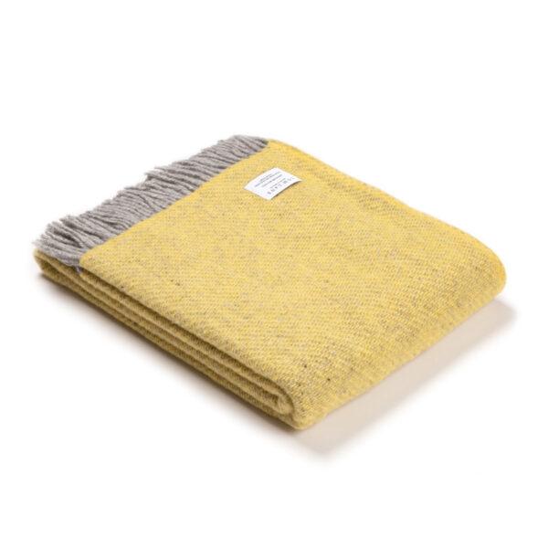 Yellow Wool Throw