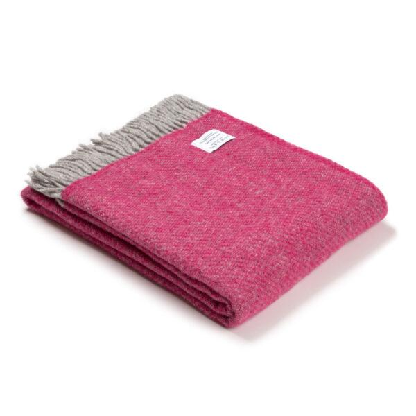 Pink Wool Throw