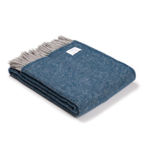 Inky Blue Wool Throw