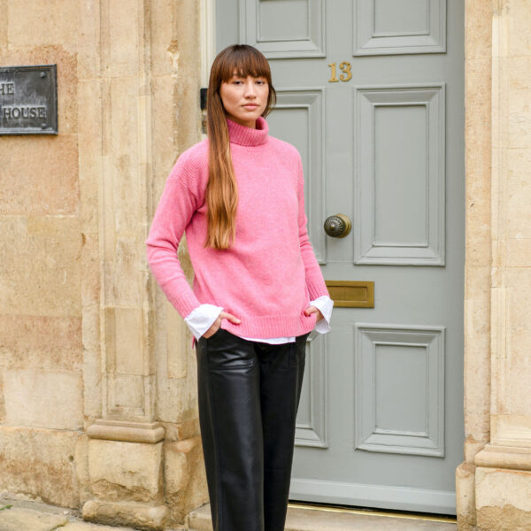 Pink Roll Neck