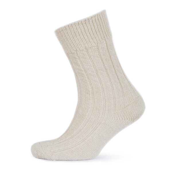 Cream Alpaca bed socks