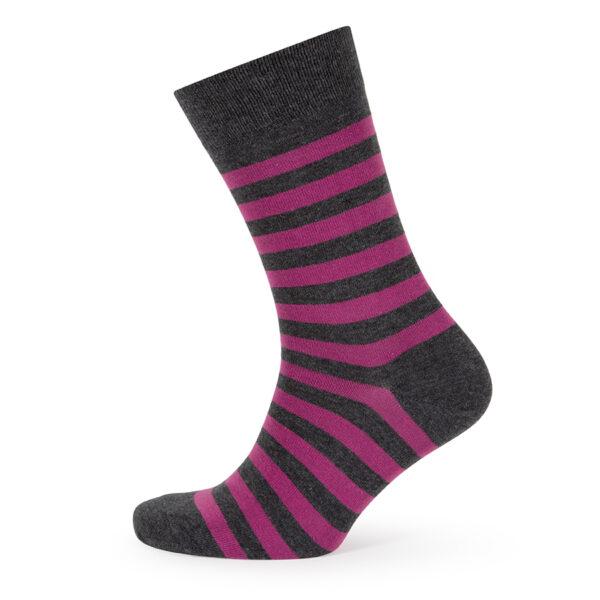 Stripes! Bright Pink & Grey