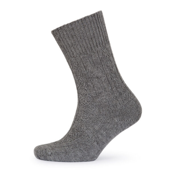 Cable Knit Alpaca bed socks