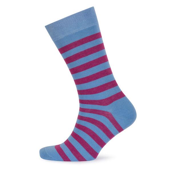 Stripes! Blue & Bright Pink