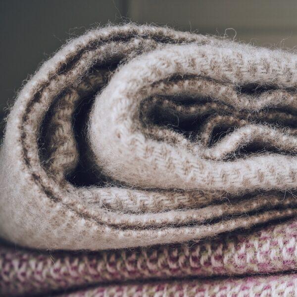 Beige Wool Throw
