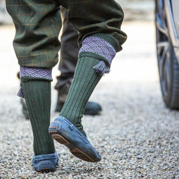 Belvoir shooting socks – Green & Heather