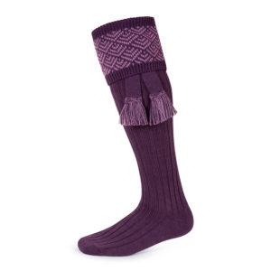 Belvoir shooting socks – Purple