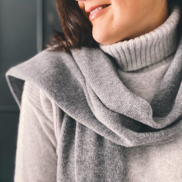 Light Grey Roll neck