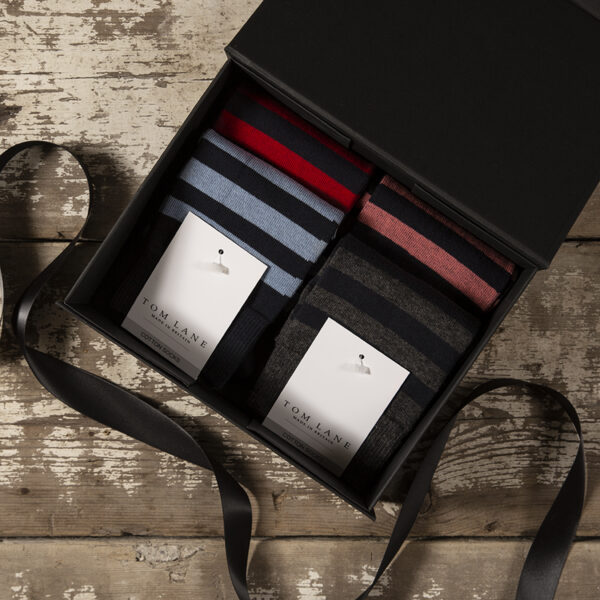 Cotton stripes gift box