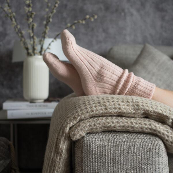 Pink Alpaca bed socks