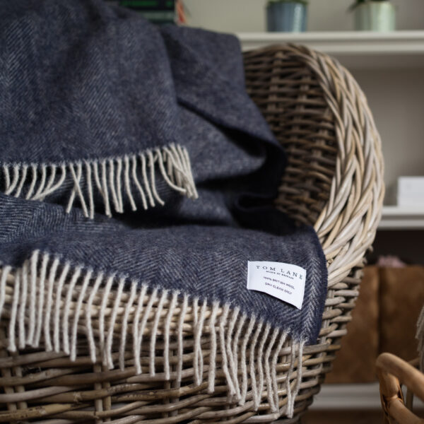Coverdale Throw, Navy